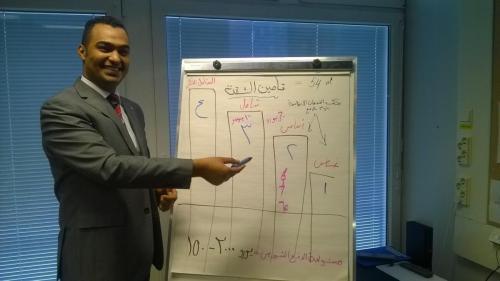 Hilman arabiankielisen vertaisryhmän ohjaaja Rayan kävi ryhmäläisten kanssa läpi vakuutusasioita. 31.3.2015