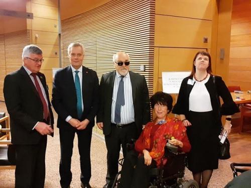 Vammaisfoorumi, Euroopan vammaisfoorumin EDF delegaation kanssa tapasi perjantaina pääministeri Antti Rinteen kanssa. 15.11.2019